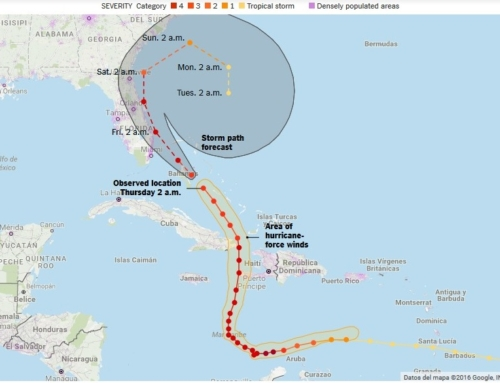 Hurricane Matthew reaches the US