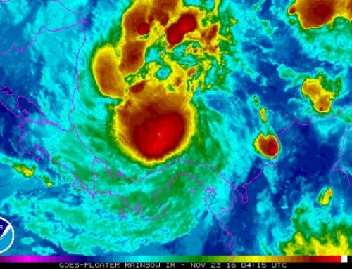 Tropical Storm Otto is Now a Hurricane moving towards Central America